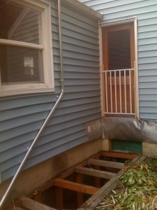 New downspout